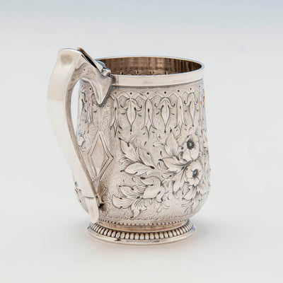 Handle to Gorham Antique Coin Silver Child's Cup, Providence, RI, c. 1865