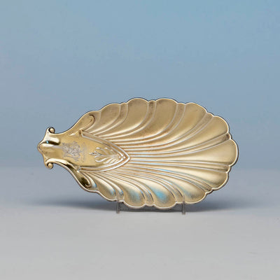 Interior of Whiting Antique Sterling Silver Shell Dish, NYC, 1871