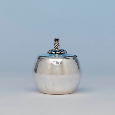 Franklin Porter Sterling Silver Arts & Crafts Condiment Jar, Danvers, MA, c. 1930