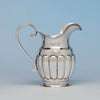 Stevens and Lakeman Antique Coin Silver Pitcher, Salem, MA, c. 1825