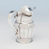 Handle on Stevens and Lakeman Antique Coin Silver Pitcher, Salem, MA, c. 1825