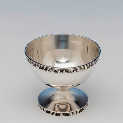 Interior of Vanderslice and Co Antique Coin Silver Bowl, San Francisco, CA, c. 1860's