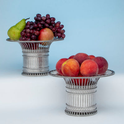 Paul Storr Pair of George IV Sterling Silver Fruit or Dessert Baskets, London, 1823/24