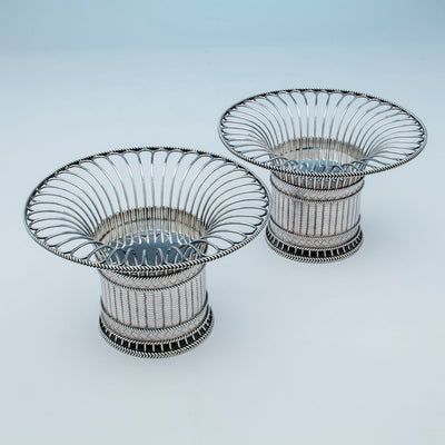 Top view of Paul Storr Pair of George IV Sterling Silver Fruit Baskets, London, 1823/24