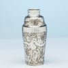Tiffany and Co Antique Sterling Silver Exotic Cocktail Shaker, NYC, NY, c. 1888