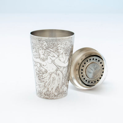 Parts to Tiffany and Co Antique Sterling Silver Exotic Cocktail Shaker, NYC, NY, c. 1888