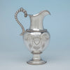 William Gale and Son Antique Coin Silver Ewer, NYC, NY, 1856