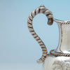 Handle to William Gale and Son Antique Coin Silver Ewer, NYC, NY, 1856