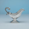 Obadiah Rich (likely) Jones, Ball & Poor Coin Silver Figural Gravy Boat, Boston, MA, 1848-51