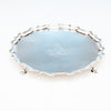 Top of Joseph Sanders George II Antique Sterling Silver Tray London, 1739/40