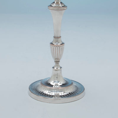 Base to Antique Sheffield Silver Plate Pair of Candelabra, Sheffield, England, c. 1870-1800