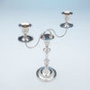 Top of Antique Sheffield Silver Plate Pair of Candelabra, Sheffield, England, c. 1870-1800