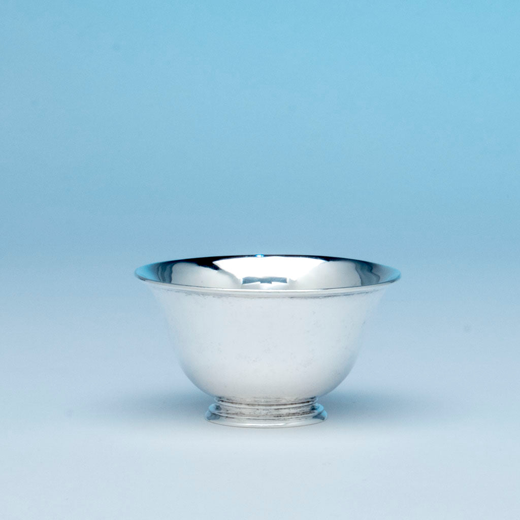 Stone Associates Arts and Crafts Sterling Silver Small Bowl, Gardner, MA, c. 1950