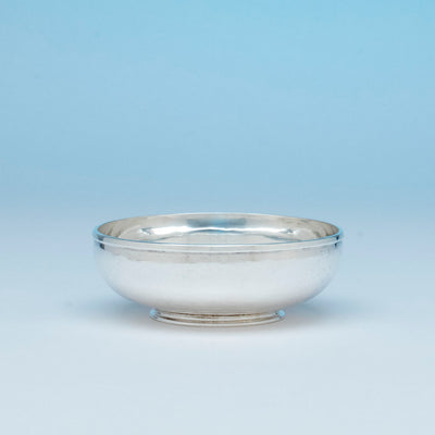 Stone Associates Arts & Crafts Sterling Silver Bowl, Gardner, MA, c. 1950