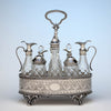 Bailey & Company Antique Coin Silver 8-bottle Cruet Set, Philadelphia, 1852-55