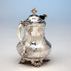 Handle to M. W. Galt & Bro. Antique Coin Silver Creamer of Political Interest, Washington, DC, 1847-54