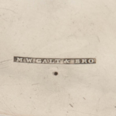 Marks on M. W. Galt & Bro. Antique Coin Silver Creamer of Political Interest, Washington, DC, 1847-54
