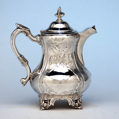 M. W. Galt & Bro. Antique Coin Silver Creamer of Political Interest, Washington, DC, 1847-54