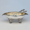Peter Krider Antique Sterling Silver Figural Salad Bowl with Krider & Biddle Servers, Philadelphia, c. 1870