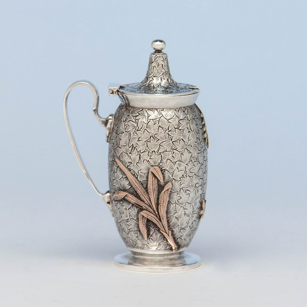Dominick & Haff Antique Sterling & Other Metals Mustard Pot, New York City, c. 1880
