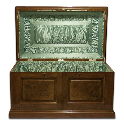 Closed front of Massive Gorham Presentation Case made for the John Roach Silver Service, Providence, RI, c. 1874
