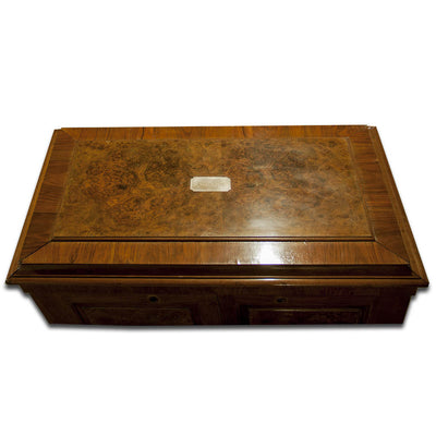 Top of Massive Gorham Presentation Case made for the John Roach Silver Service, Providence, RI, c. 1874