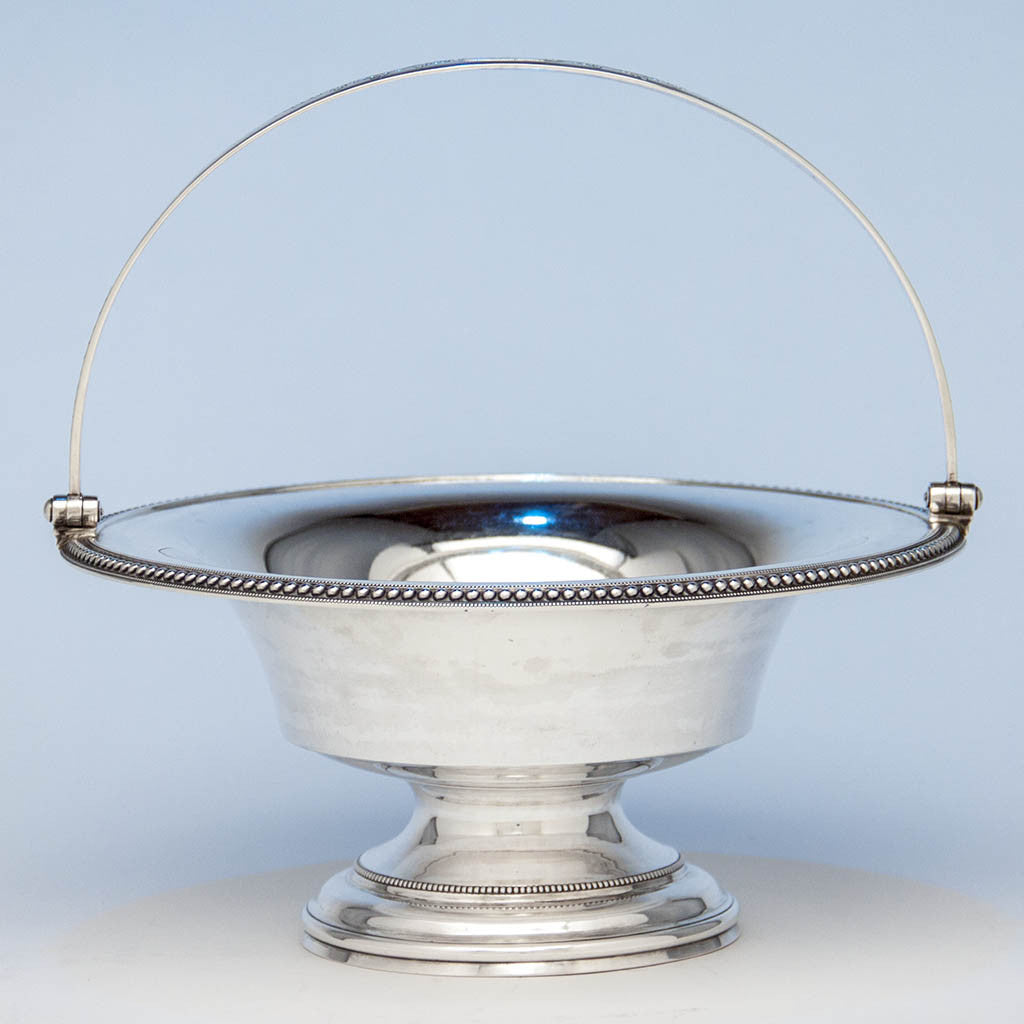 Harvey Lewis Antique Coin Silver Swing-handle Basket, Philadelphia, 1811-1828