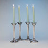 Joseph Heinrichs Silver Plate Hammered Arts & Crafts Candlesticks, New York City, c. 1910 - set of 4