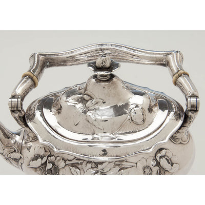 Vover to Gorham Martelé Antique Silver Kettle on Stand chased by George Sauthof, Providence, RI, 1909