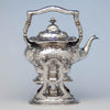 Gorham Martelé Antique Silver Kettle on Stand chased by George Sauthof, Providence, RI, 1909