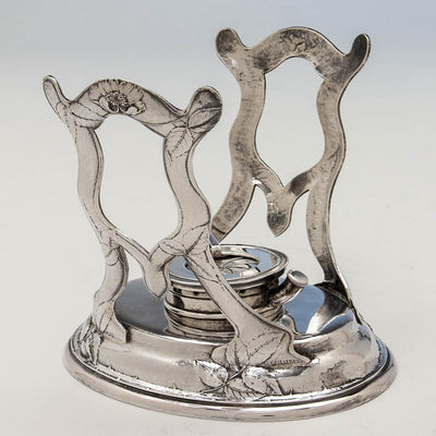 Stand to Gorham Martelé Antique Silver Kettle on Stand chased by George Sauthof, Providence, RI, 1909