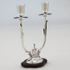 Single example of Cellini Shop Sterling & Rosewood Art Deco Candelabra, Evanston, IL, c. 1930