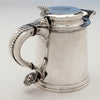 Handle to Eoff & Shepard Coin Silver Tankard-form Hot Beverage Jug or Pitcher bearing the Pumpelly family arms, New York City, 1852, retailed by Ball, Tompkins and Black
