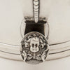 Figure on Eoff & Shepard Coin Silver Tankard-form Hot Beverage Jug or Pitcher bearing the Pumpelly family arms, New York City, 1852, retailed by Ball, Tompkins and Black
