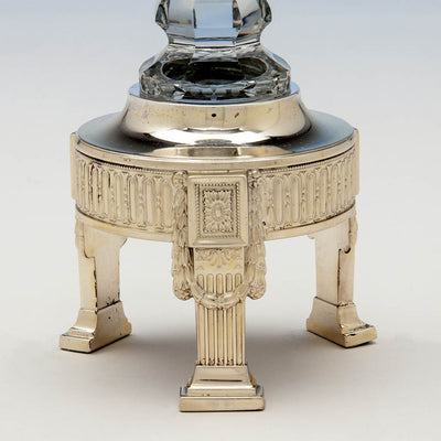 Candlestick base of Dominick & Haff Antique Sterling Silver & Glass Table Suite, New York City, c. 1900