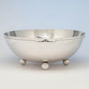 The Kalo Shop Arts & Crafts Sterling Silver Hand Wrought Decorated Large Punch Bowl, Chicago, IL, 1912-16