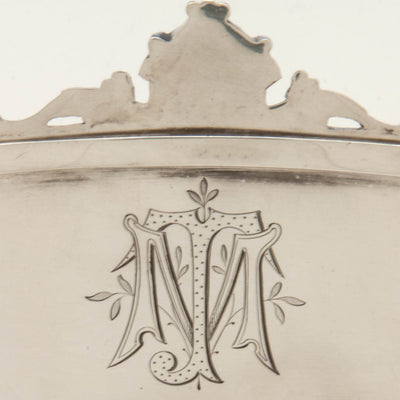 Gorham Antique Coin Silver Figural Serving Dish or 'Cake Basket', Providence, RI, c. 1867    - retailed by Tiffany & Co.