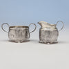Tiffany & Co Antique Sterling Silver Dessert Creamer and Sugar, New York City, 1883-91