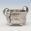 Sugar detail of Tiffany & Co Antique Sterling Silver Dessert Creamer and Sugar, New York City, 1883-91