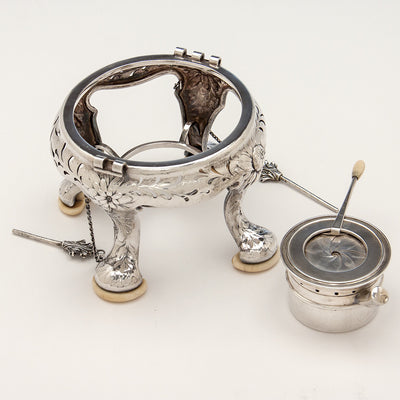Kettle parts to Gorham Rare Antique Sterling Silver 'Japanese' Coffee Service chased by Subero Yamamoto, Providence, RI, 1906