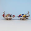 Gorham Antique Sterling Silver Pair of Figural Candy Dishes, Providence, RI, 1876