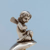 Putti on Gorham Antique Sterling Silver Pair of Figural Candy Dishes, Providence, RI, 1876