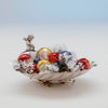 Side of Gorham Antique Sterling Silver Pair of Figural Candy Dishes, Providence, RI, 1876