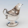 Handle to Francis W. Cooper Antique Coin Silver Gravy Boat, New York City, 1863