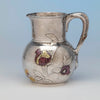 Tiffany and Co Sterling Silver and Other Metals Pitcher, NYC, c. 1870's