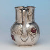 Handle to Tiffany and Co Sterling Silver and Other Metals Pitcher, NYC, c. 1870's