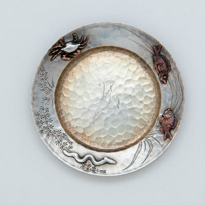 6th Tiffany Sterling Silver Mixed Metal Butter Pat, NYC, NY, c. 1880