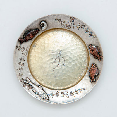 3rd Tiffany Sterling Silver Mixed Metal Butter Pat, NYC, NY, c. 1880