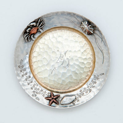5th Tiffany Sterling Silver Mixed Metal Butter Pat, NYC, NY, c. 1880