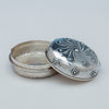 Open Whiting Antique Sterling Silver Nautical Design Round Box, New York, c. 1883